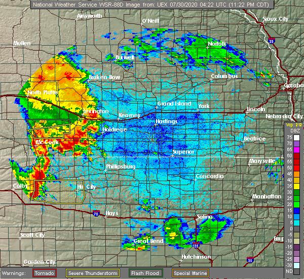Radar Image for Severe Thunderstorms near Stockville, NE at 7/29/2020 11:24 PM CDT