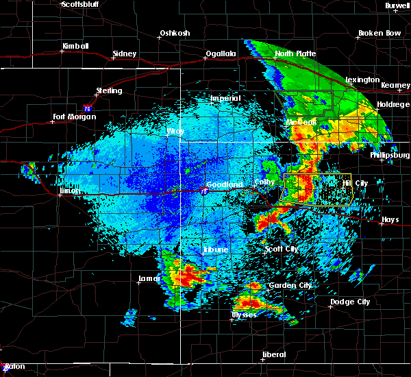 Radar Image for Severe Thunderstorms near Hoxie, KS at 7/29/2020 11:48 PM CDT