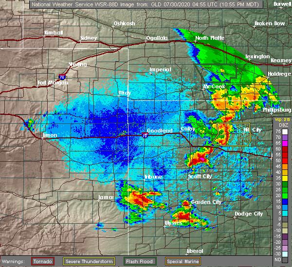 Radar Image for Severe Thunderstorms near Morland, KS at 7/29/2020 11:58 PM CDT