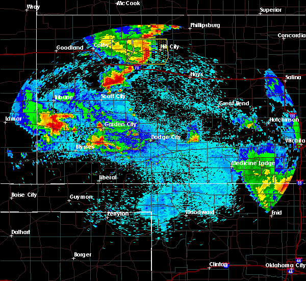 Radar Image for Severe Thunderstorms near Ulysses, KS at 7/30/2020 12:09 AM CDT