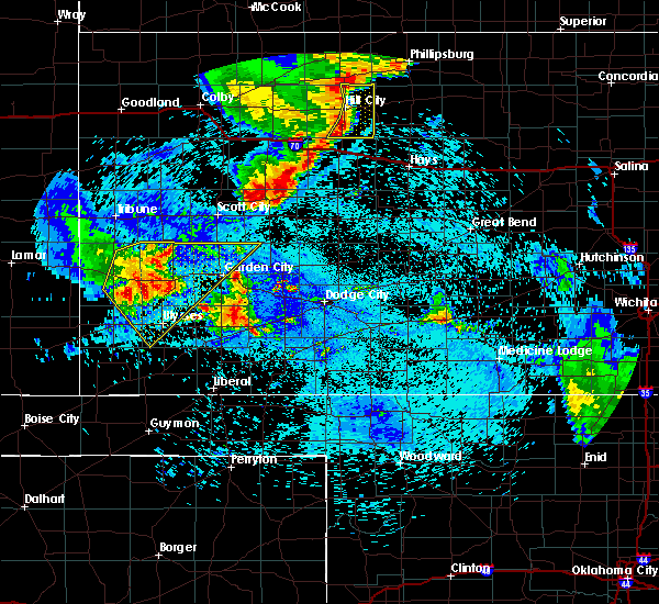 Radar Image for Severe Thunderstorms near Ulysses, KS at 7/30/2020 12:30 AM CDT