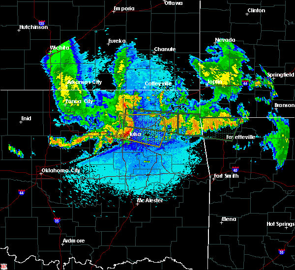 Radar Image for Severe Thunderstorms near Vera, OK at 7/30/2020 1:42 AM CDT