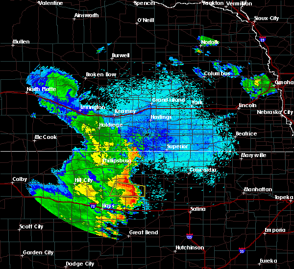 Radar Image for Severe Thunderstorms near Glen Elder, KS at 7/30/2020 1:52 AM CDT