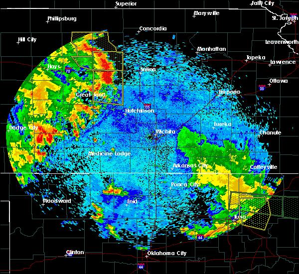 Radar Image for Severe Thunderstorms near Lorraine, KS at 7/30/2020 2:33 AM CDT