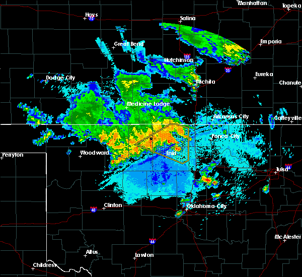 Radar Image for Severe Thunderstorms near Fairmont, OK at 7/30/2020 4:41 AM CDT