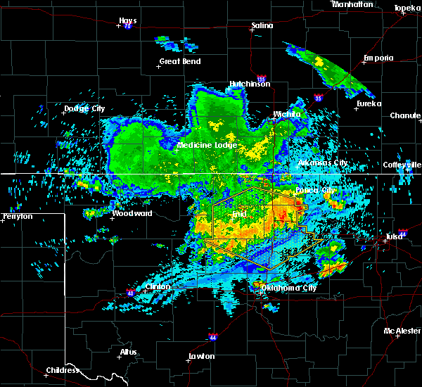 Radar Image for Severe Thunderstorms near Fairmont, OK at 7/30/2020 5:29 AM CDT
