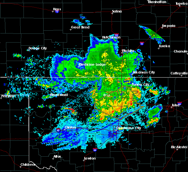 Radar Image for Severe Thunderstorms near Billings, OK at 7/30/2020 5:44 AM CDT