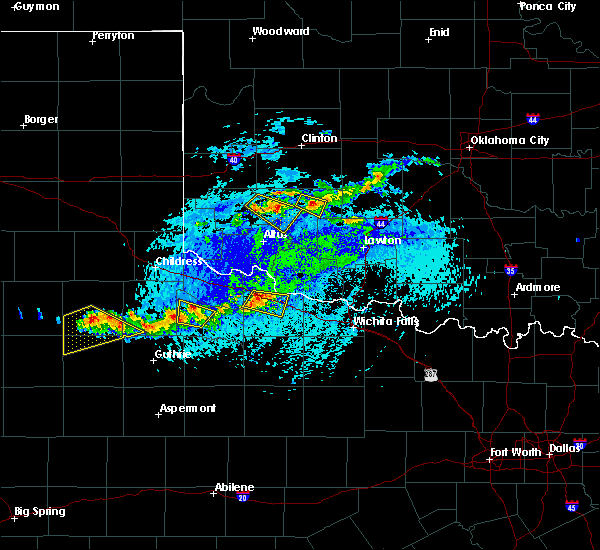 Radar Image for Severe Thunderstorms near Vernon, TX at 7/30/2020 4:36 PM CDT