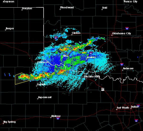 Radar Image for Severe Thunderstorms near Vernon, TX at 7/30/2020 4:42 PM CDT