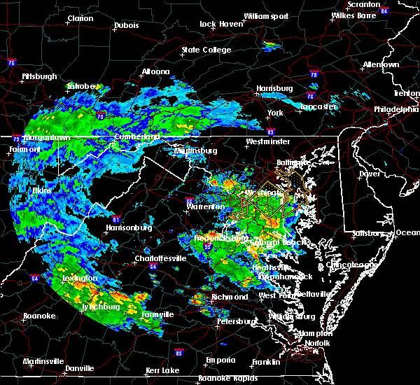 Radar Image for Severe Thunderstorms near Woodlawn, MD at 7/30/2020 8:13 PM EDT