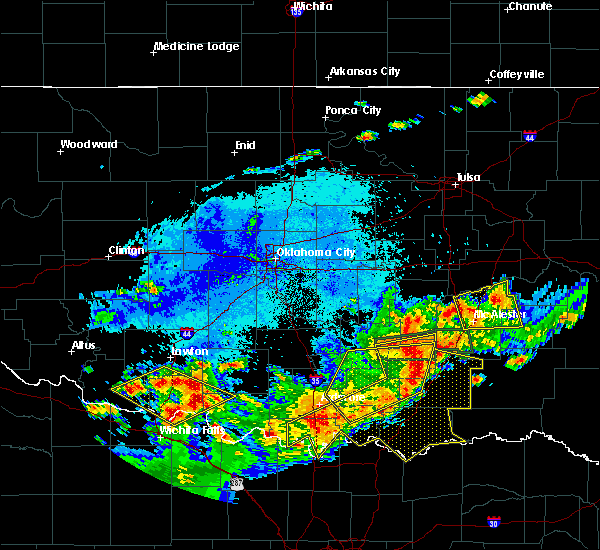 Radar Image for Severe Thunderstorms near Stonewall, OK at 7/30/2020 7:40 PM CDT