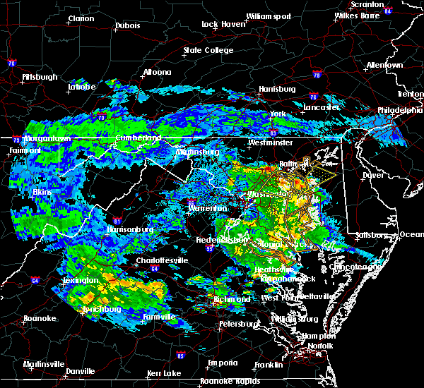 Radar Image for Severe Thunderstorms near Lansdowne, MD at 7/30/2020 8:53 PM EDT