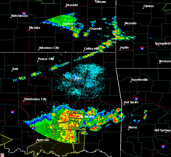 Radar Image for Severe Thunderstorms near Eufaula, OK at 7/30/2020 8:00 PM CDT
