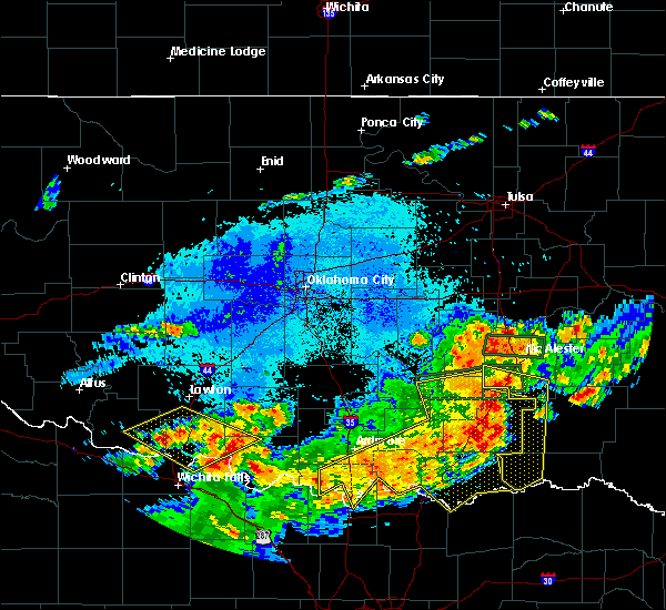 Radar Image for Severe Thunderstorms near Marietta, OK at 7/30/2020 8:01 PM CDT