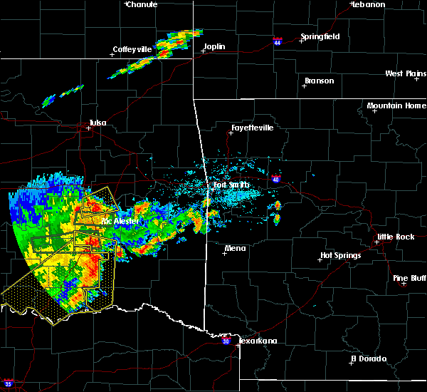 Radar Image for Severe Thunderstorms near Antlers, OK at 7/30/2020 8:16 PM CDT