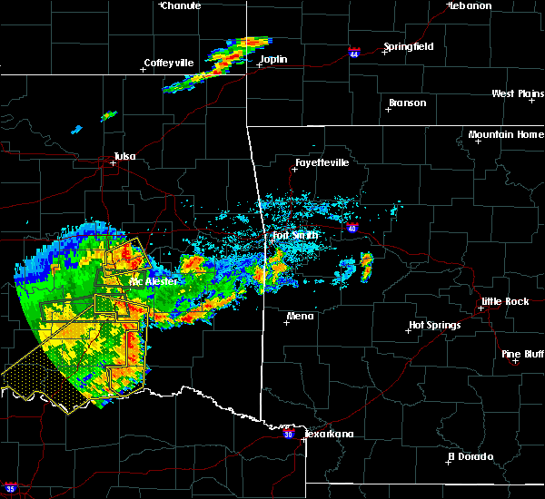 Radar Image for Severe Thunderstorms near Antlers, OK at 7/30/2020 8:26 PM CDT