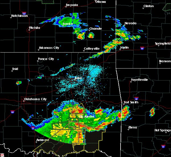 Radar Image for Severe Thunderstorms near Eufaula, OK at 7/30/2020 8:33 PM CDT