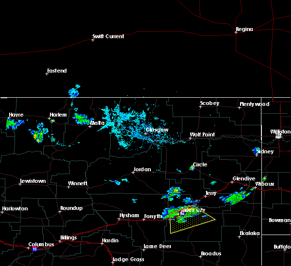 Radar Image for Severe Thunderstorms near Miles City, MT at 7/30/2020 7:46 PM MDT