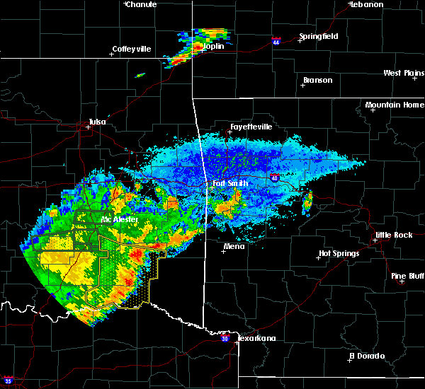 Radar Image for Severe Thunderstorms near Antlers, OK at 7/30/2020 8:54 PM CDT