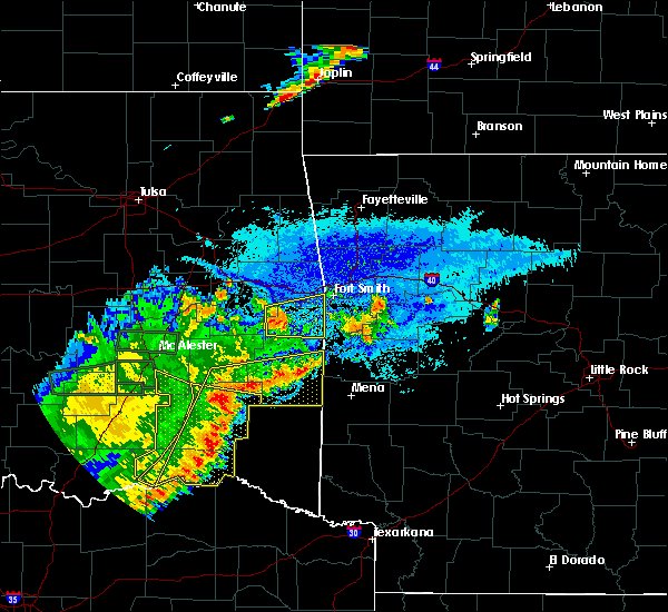 Radar Image for Severe Thunderstorms near Albion, OK at 7/30/2020 9:15 PM CDT