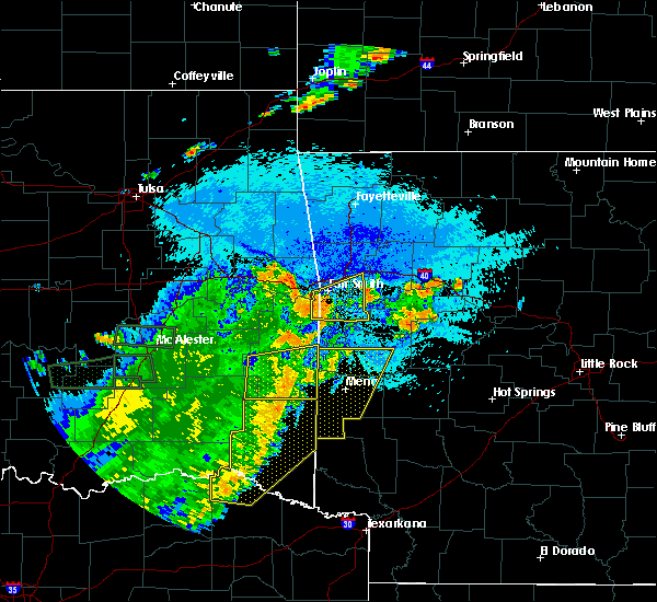 Radar Image for Severe Thunderstorms near Mulberry, AR at 7/30/2020 9:45 PM CDT