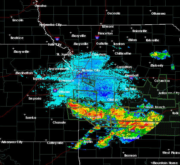 Radar Image for Severe Thunderstorms near Prescott, KS at 7/2/2015 12:37 AM CDT