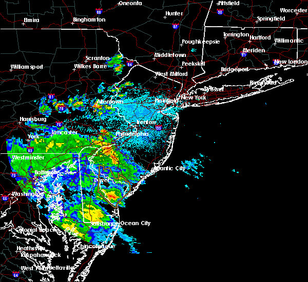 Radar Image for Severe Thunderstorms near Turnersville, NJ at 7/30/2020 11:09 PM EDT