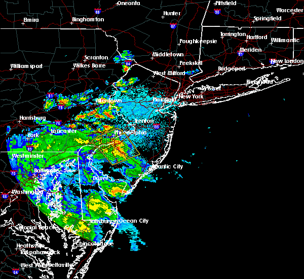 Radar Image for Severe Thunderstorms near Turnersville, NJ at 7/30/2020 11:26 PM EDT