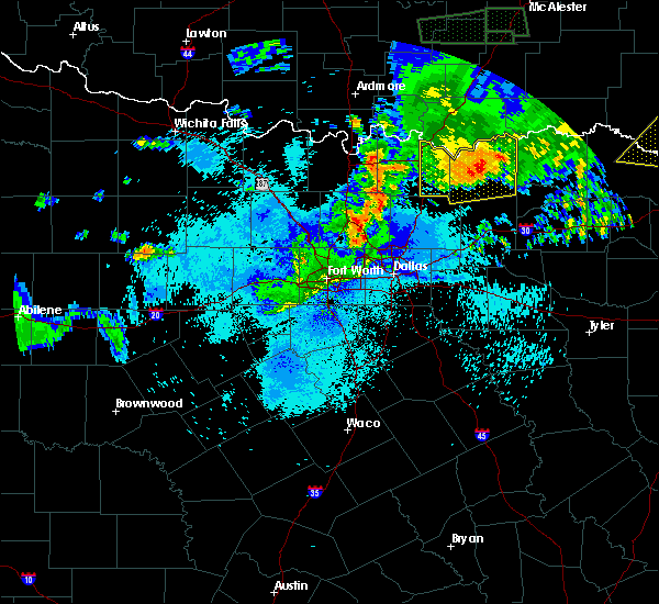 Radar Image for Severe Thunderstorms near Honey Grove, TX at 7/30/2020 10:36 PM CDT