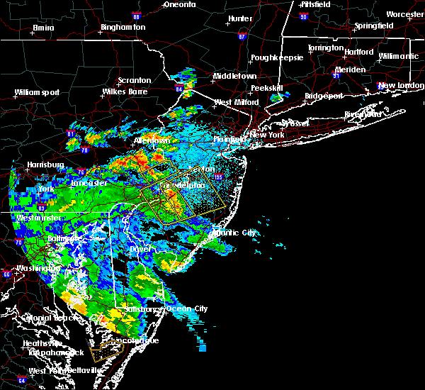 Radar Image for Severe Thunderstorms near Turnersville, NJ at 7/30/2020 11:39 PM EDT
