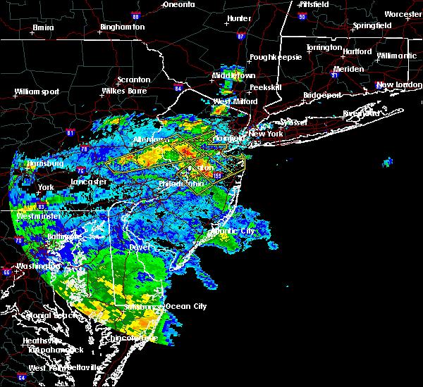 Radar Image for Severe Thunderstorms near Flemington, NJ at 7/31/2020 12:38 AM EDT