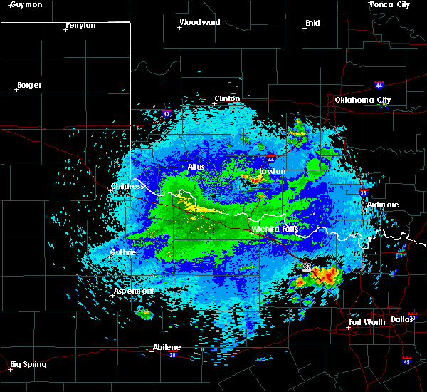 Radar Image for Severe Thunderstorms near Temple, OK at 7/31/2020 12:42 AM CDT