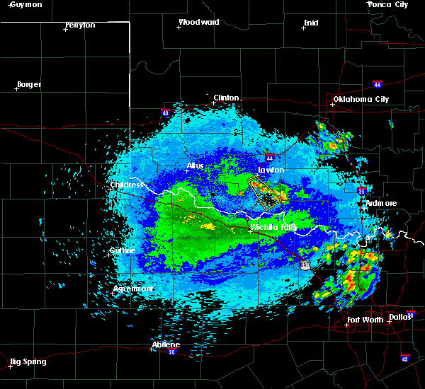 Radar Image for Severe Thunderstorms near Temple, OK at 7/31/2020 1:28 AM CDT