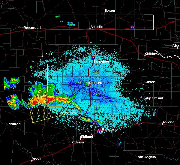 Radar Image for Severe Thunderstorms near Denver City, TX at 7/31/2020 2:56 AM CDT