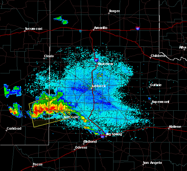 Radar Image for Severe Thunderstorms near Denver City, TX at 7/31/2020 3:21 AM CDT