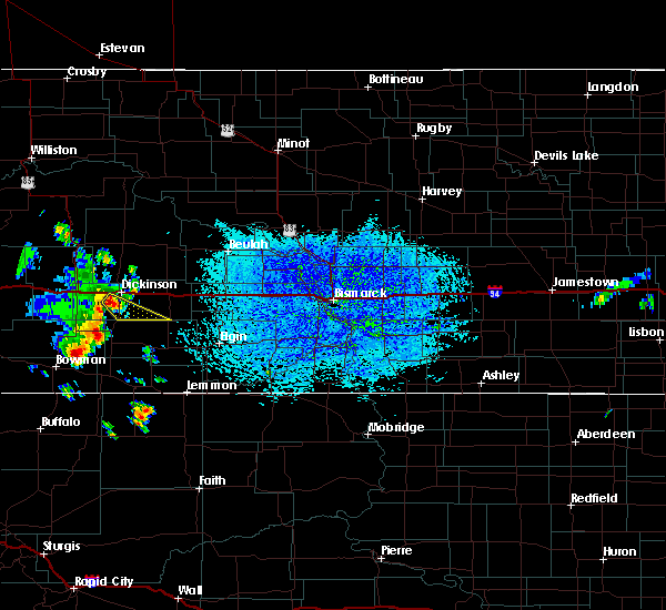 Radar Image for Severe Thunderstorms near Dickinson, ND at 7/31/2020 1:29 PM MDT