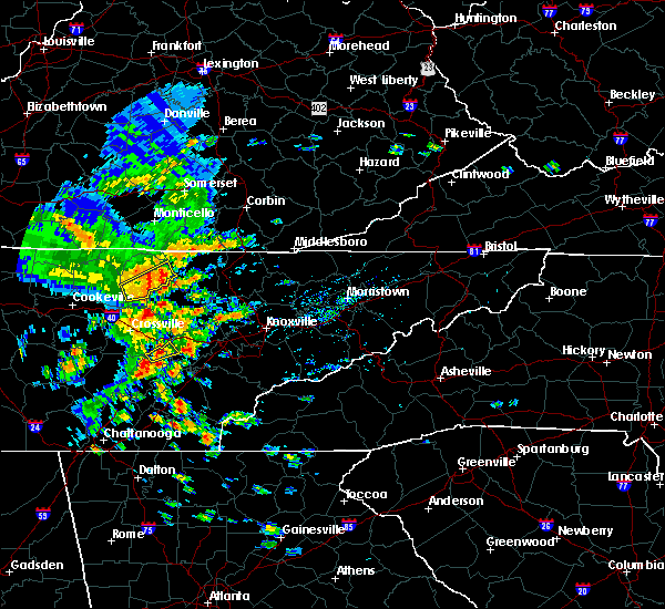 Radar Image for Severe Thunderstorms near Oneida, TN at 7/31/2020 4:45 PM EDT