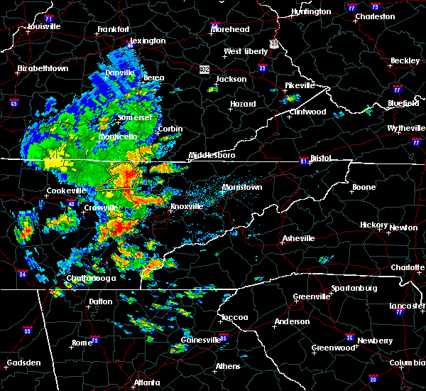 Radar Image for Severe Thunderstorms near Oneida, TN at 7/31/2020 5:07 PM EDT