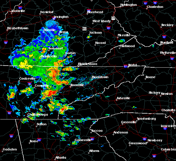Radar Image for Severe Thunderstorms near Andersonville, TN at 7/31/2020 5:13 PM EDT