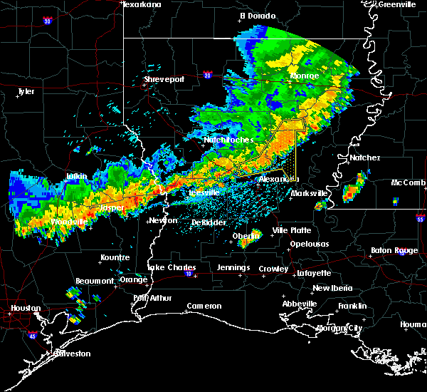 Radar Image for Severe Thunderstorms near Prospect, LA at 7/31/2020 4:56 PM CDT