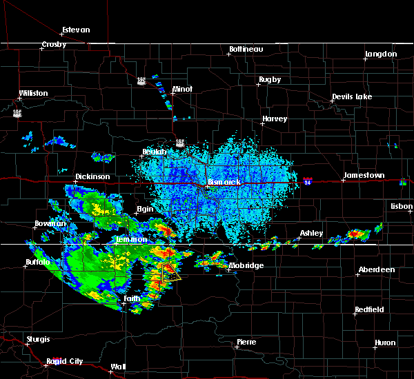 Radar Image for Severe Thunderstorms near Isabel, SD at 7/31/2020 4:04 PM MDT
