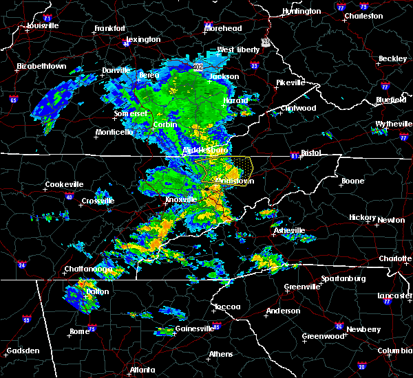 Radar Image for Severe Thunderstorms near Morristown, TN at 7/31/2020 6:56 PM EDT