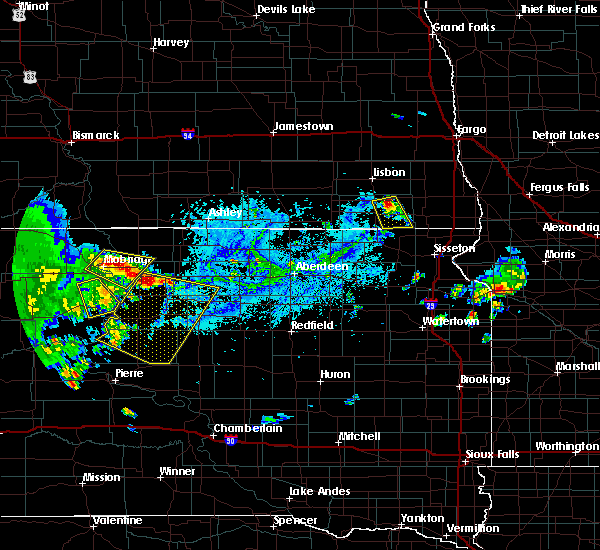 Radar Image for Severe Thunderstorms near Forman, ND at 7/31/2020 6:43 PM CDT