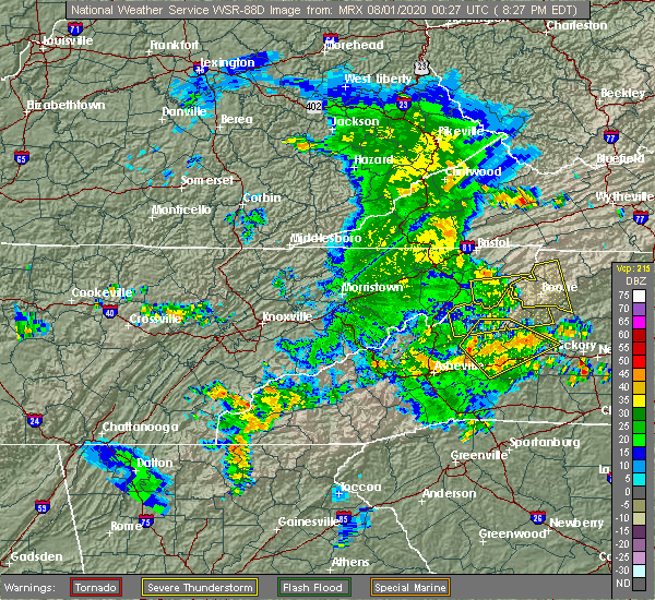 Radar Image for Severe Thunderstorms near Crossnore, NC at 7/31/2020 8:31 PM EDT