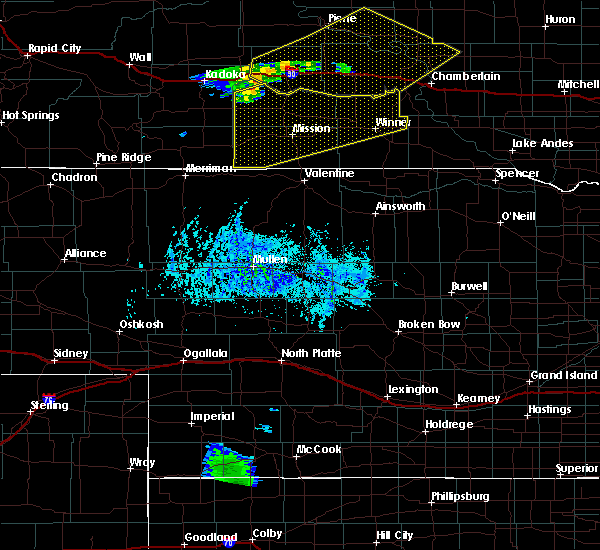 Radar Image for Severe Thunderstorms near Mission, SD at 7/31/2020 7:44 PM CDT