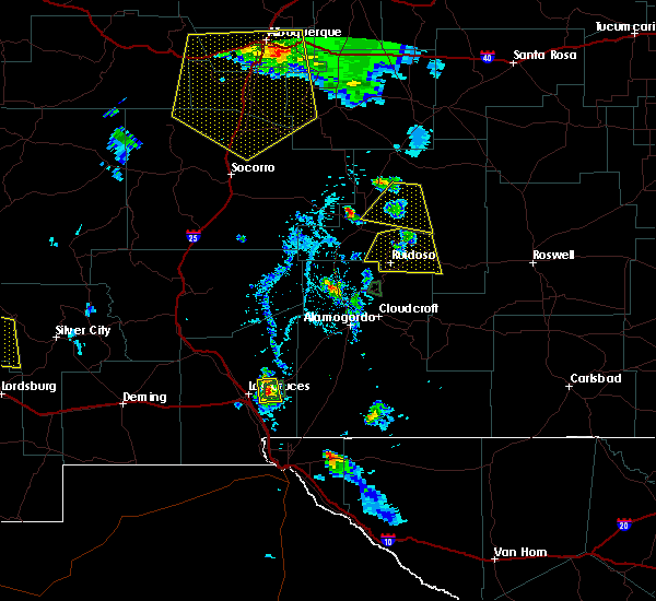 Radar Image for Severe Thunderstorms near Ruidoso Downs, NM at 7/31/2020 6:52 PM MDT