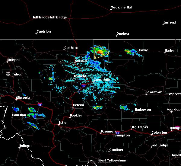 Radar Image for Severe Thunderstorms near Chester, MT at 7/31/2020 6:55 PM MDT
