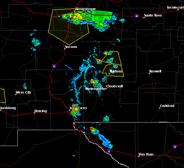 Radar Image for Severe Thunderstorms near Ruidoso Downs, NM at 7/31/2020 7:04 PM MDT