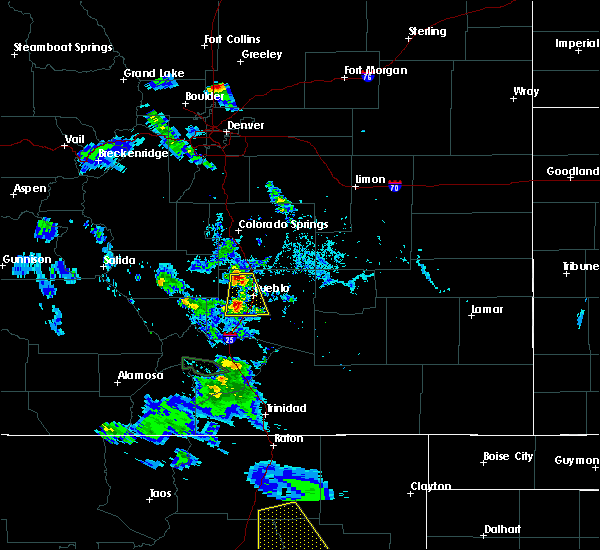 Radar Image for Severe Thunderstorms near Pueblo West, CO at 7/31/2020 7:15 PM MDT