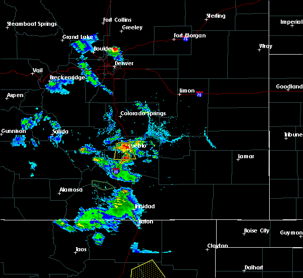 Radar Image for Severe Thunderstorms near Pueblo West, CO at 7/31/2020 7:27 PM MDT